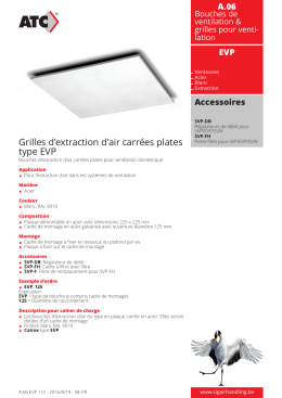 Grilles d`extraction d`air carrées plates type EVP