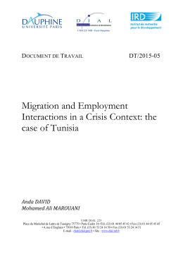 Migration and Employment Interactions in a Crisis Context: the case