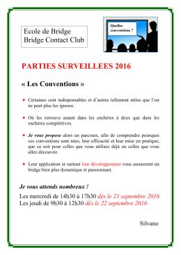 Parties Surveillées rentrée 2016 - Bridge
