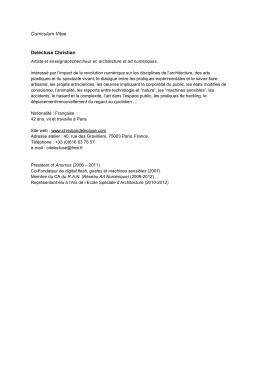 Curriculum Vitae - Christian Delecluse