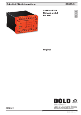 Not-Aus-Modul BD 5983 - SAFEMASTER