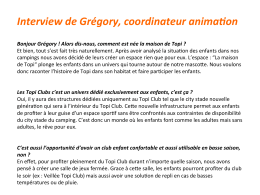Interview de Grégory, coordinateur anima on