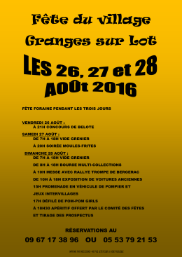 Fête du village Granges sur Lot