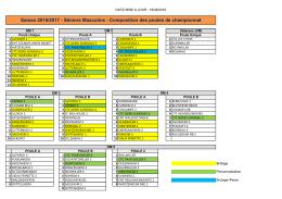 Saison 2016/2017 - Séniors Masculins