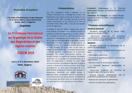 cigcm 2016 - Institut d`Architecture et Sciences de la Terre