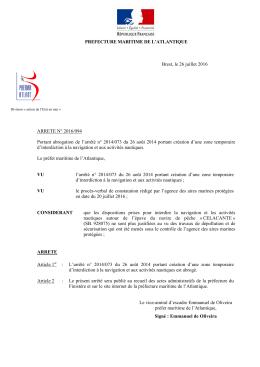 2016-094 - Préfecture maritime Atlantique