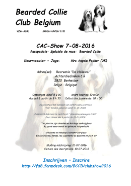 CAC Clubshow BCCB Bonheiden - Bearded Collie Club Belgium