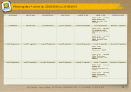visualiser en calendrier
