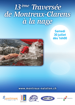 Programme - Montreux Natation