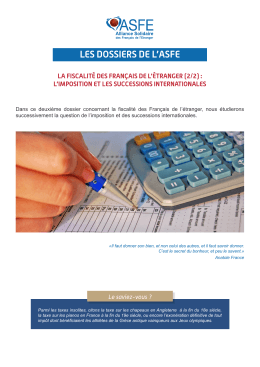 l`imposition et les successions internationales