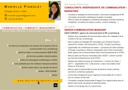 CV (français) - Murielle Pignolet