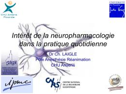 Intérêt de la neuropharmacologie dans la pratique quotidienne
