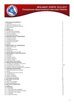 Réglement - Comité Départemental des Hauts-de