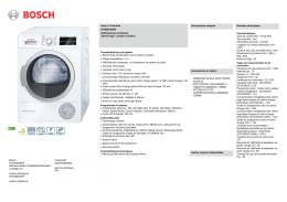Bosch WTW87460FF SECHE-LINGE CONDENSATION 8KG