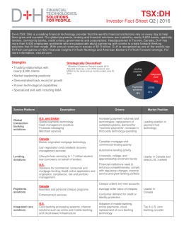 Investor Fact Sheet Q2 | 2016