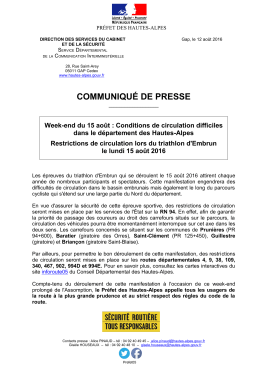 COMMUNIQUÉ DE PRESSE - Internet Services de l`Etat en Hautes