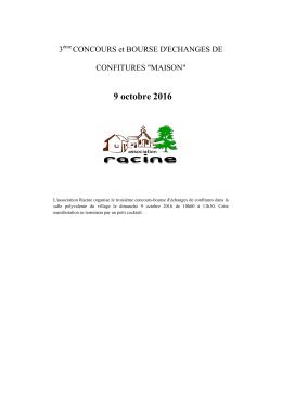 Consulter le règlement - Association Racine Gasques