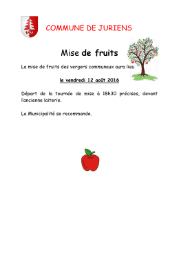 Mise de fruits