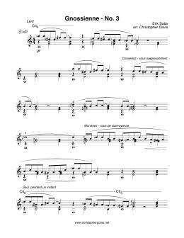 Erik Satie - Gnossienne No. 3