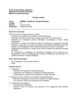 ENR850 Qualité de