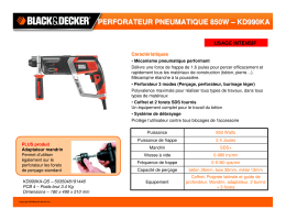 perforateur pneumatique 850w – kd990ka