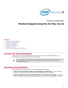 McAfee Endpoint Security for Mac 10.2.0 Notes de publication