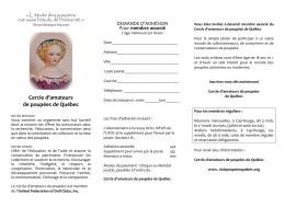Brochure CAP Août 2016 - Cercle d`amateurs de poupées de Québec