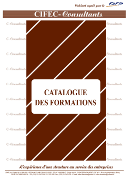 Catalogue C-Consultants - C-Consultants :: L`expertise en formation