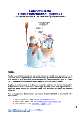 Flash d`Information juillet 31 2016 - Over-blog