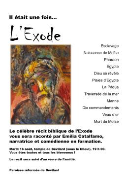 Exode raconte - les paroisses du Par8