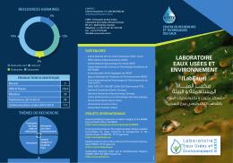 FlayerLABEUA - Centre de Recherche et des technologies des eaux