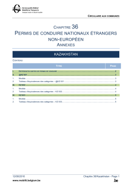 PERMIS DE CONDUIRE NATIONAUX ÉTRANGERS NON