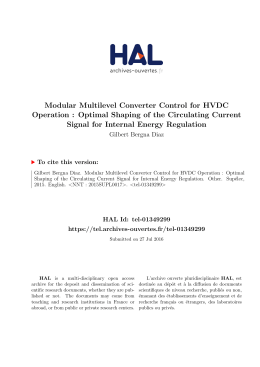Modular Multilevel Converter Control for HVDC Operation - Tel