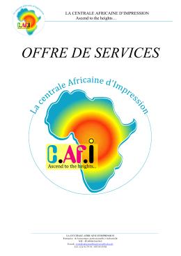 la centrale africaine d`impression