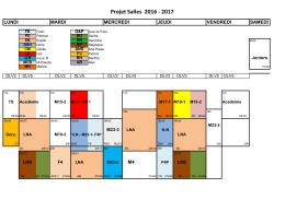 Plan d`occupation des salles