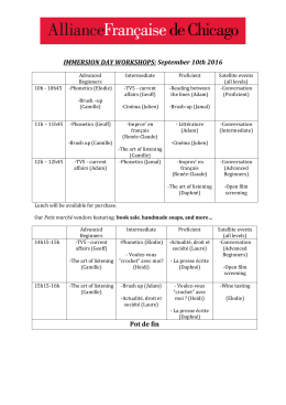 IMMERSION DAY WORKSHOPS: September 10th 2016 Pot de fin