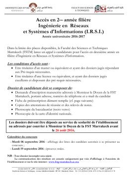 Ingénierie en Réseaux et Systèmes d`Information