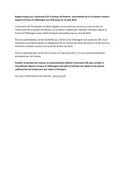 Lire le communiqué de presse EuroAirport