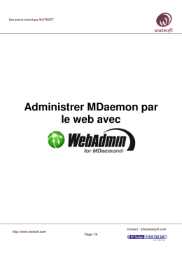 Administrer MDaemon par le web avec