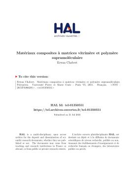 Matériaux composites à matrices vitrimère et polymère - Tel