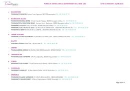Page 1 sur 7 POINTS DE VENTES DANS LE DEPARTEMENT DE L