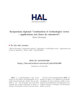 Symposium régional ``combustion et technologies vertes