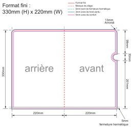 Format fini : 330mm (H) x 220mm (W)