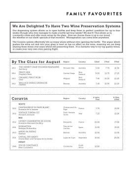 Full Wine List - The Jones Family Project