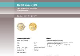 RONDA slimtech 1000 Caliber 1019 – 11½