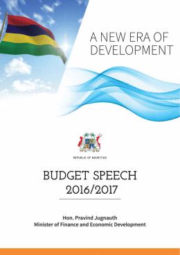 budget speech 2016-2017 - National Assembly
