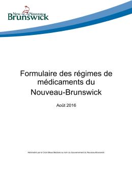 Formulaire des régimes de médicaments du Nouveau