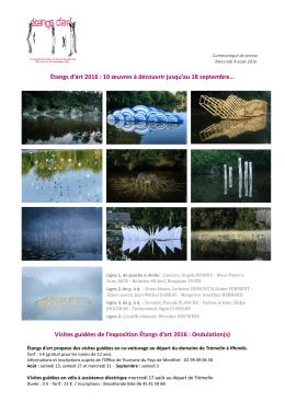 Étangs d`art 2016 : 10 œuvres à découvrir jusqu`au 18 septembre