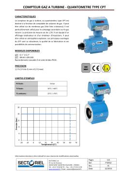 compteur gaz a turbine - quantometre type cpt