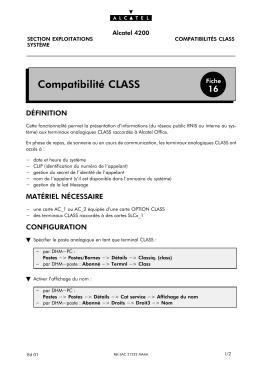 Compatibilité CLASS
